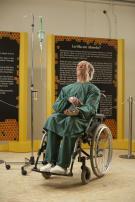 Imker im Rollstuhl