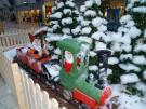 Railways with Santa Claus as a train driver