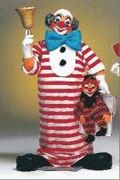 Clown mit Glocke und Koffer