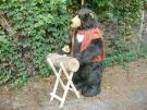 Bär sägt Holz 150cm