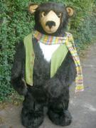 Bär zieht Schlitten o. Bollerwagen 150cm