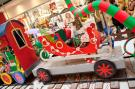 Christmas Train - Ballon Wagon mit Schlitten