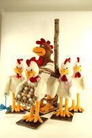 Chicken- chicken dance around the stake