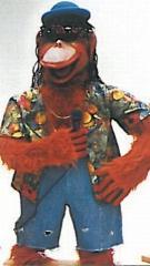 Affe als Sänger - Bandfigur