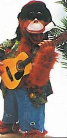 Affe mit Gitarre - Bandfigur