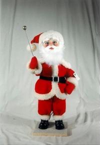 Santa Claus knocks to the window