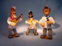 Bäckermusikgruppe bestehend aus drei Bandmitgliedern