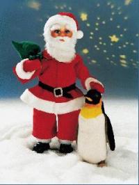 Weihnachtsmann mit Sack, stehend