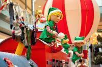 Christmas Train - Ballon Wagon with sledge