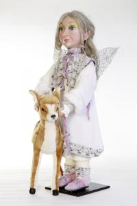Elf / fairy with fawn