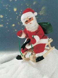 Santa Claus on carriage