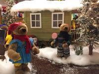 Bären 80 cm auf dem Weihnachrsmarkt (Figurengruppe)