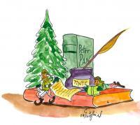 Bücher-Elfen- Themendekoration Tintenfass