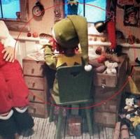 Christmas Elf, desk and mouse