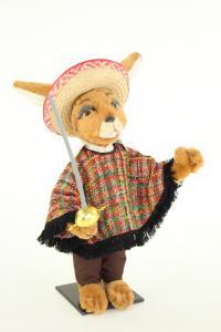 Hase- Mexikaner mit Poncho Hut und Degen