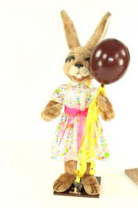Hare- woman with aerial balloon