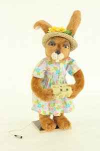 Hare- woman with package of eggs