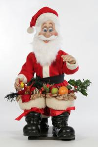 Santa Claus joins two big boots