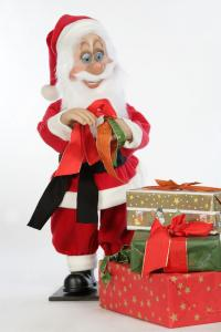 Santa Claus gift wrapped
