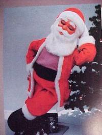 Weihnachtsmann stehend schnarchend