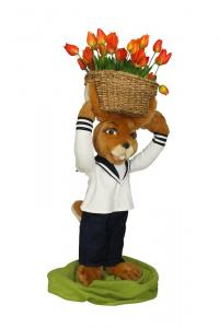 Hase sailor carrier with flower basket on the head