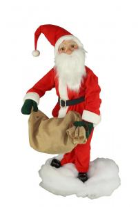 Santa with jute sack in both hands