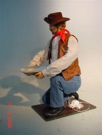 Cowboy schürft nach Gold
