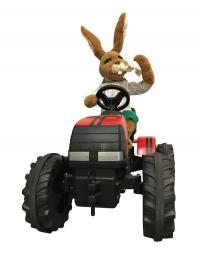 Hare on tractor