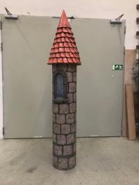 Castle tower with conical roof