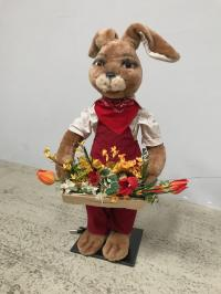 Rabbit with flower basket