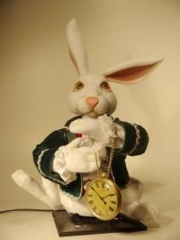 weißes Kaninchen vom Kunst Märchen Alice im Wunderland
