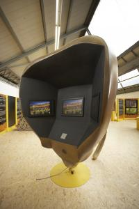 Bees head 3 m tall with 3 flat screens