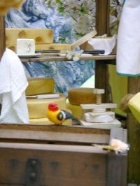 Hasen in der Schweiz-Szene 1- Käseherstellung