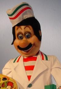 Pizzabäcker im italienischen Design
