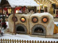 Christmas bakery with funny animals