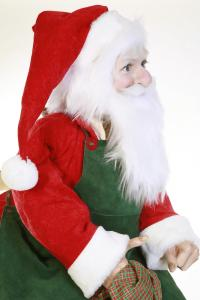 Santa Claus  with apron sitting on chair