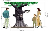 Baum sprechend mit Sondermaßen