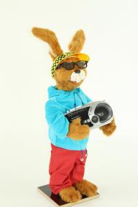 Rabbit with glasses and portable radio - Modern Life
