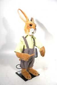 rabbit with hammer in hand