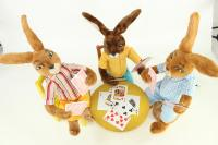 Hase- Kartenspieler