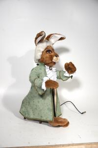 Hare- musician in the baroque garment
