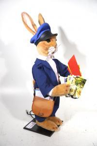 Hase- Postbote mit Tasche und Briefe