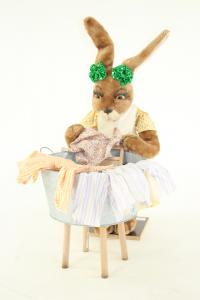 Hare- woman with washboard and tub