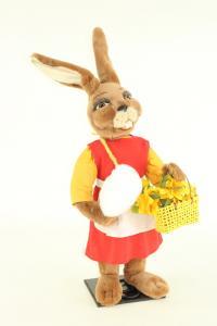 Hase- Frau mit Zuckerwatte und Blumenkorb