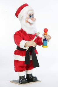Weihnachtsmann malt Geschenke an