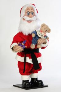 Santa with doll in her arms