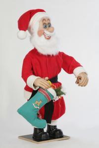 Weihnachtsmann mit Stiefel