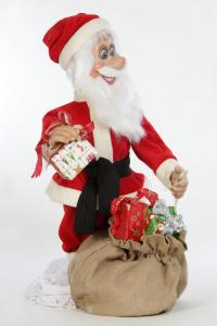 Santa Claus distributed gifts