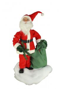 Santa with jute sack and fir branch