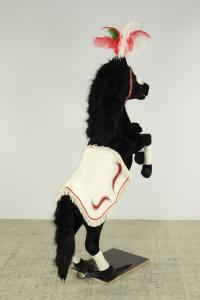Circus horse rearing pose